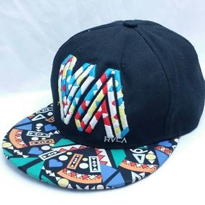 RVCA Vintage Snap back Hat 80's Art Abstract Color